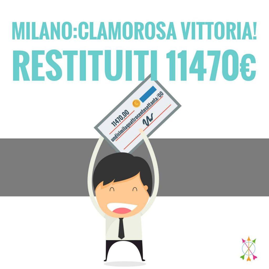 Rimborso assicurativo a Milano: restituiti 11470€