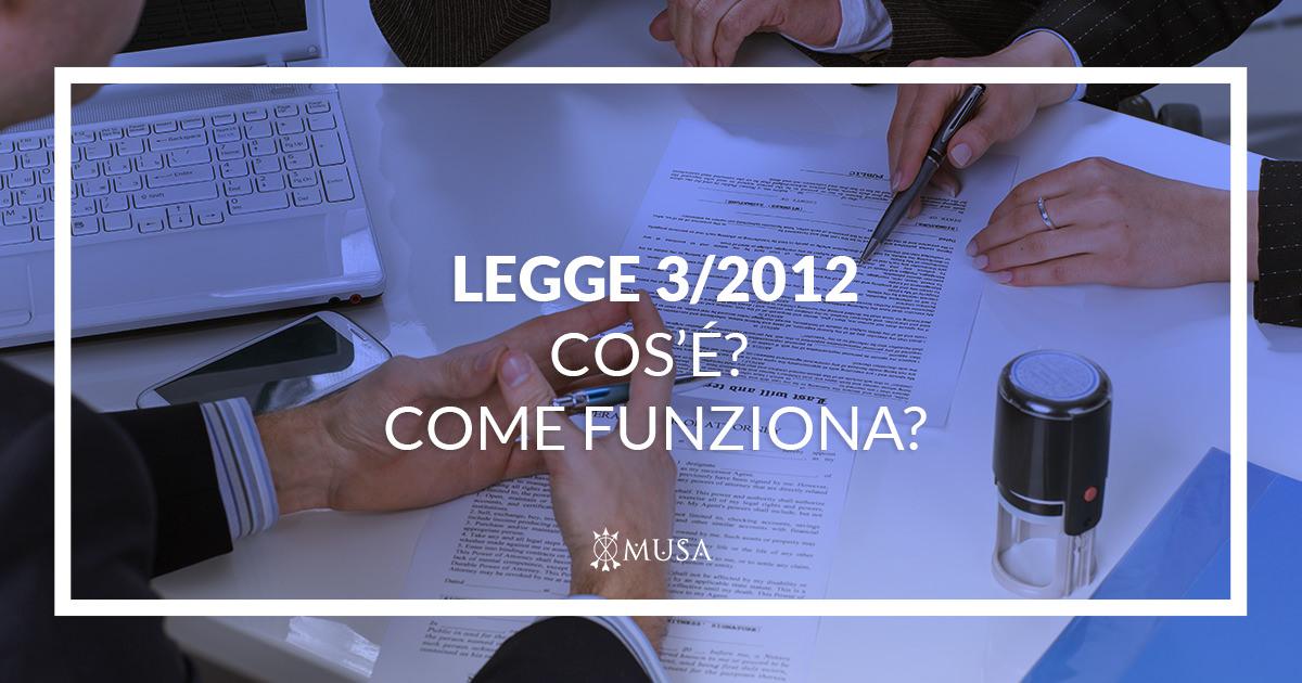 Legge 3-2012 Cosa è? Come funziona?
